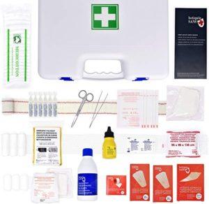 Maletín de primeros auxilios SANS, 100 componentes